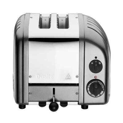 New Gen 2-Slice Metallic Silver Wide Slot Toaster with Crumb Tray