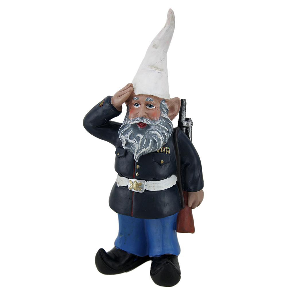 G.I. George Saluting U.S. Marine Military Gnome Garden Statue