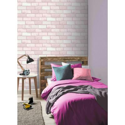 Diamond Pink Brick Wallpaper
