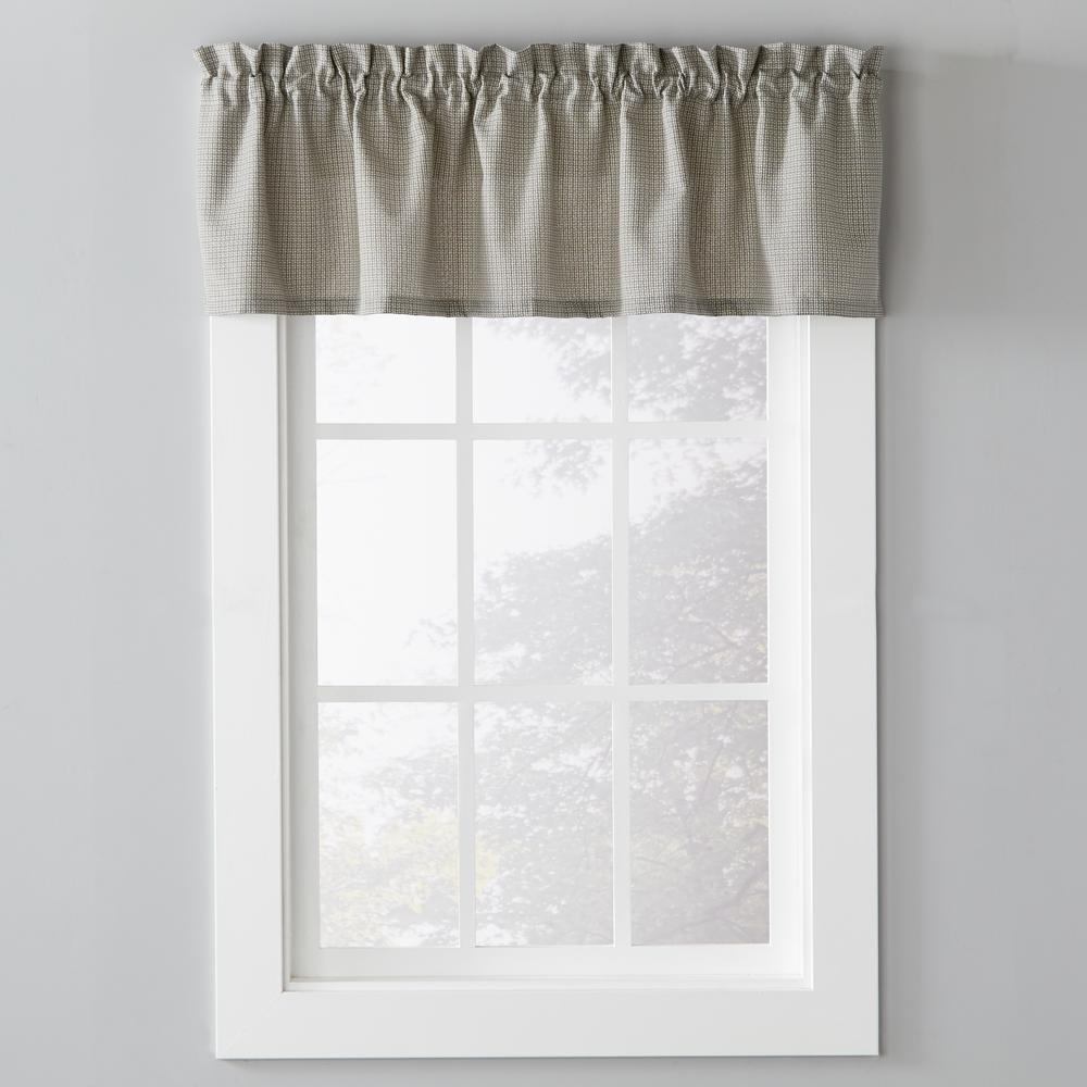 Skl Home Nelson 58 In W X 13 In L Polyester Window Valance In Black U7067000013v09 The Home Depot