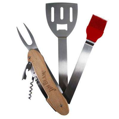 5-Piece 5-in-1 BBQ Tool Set