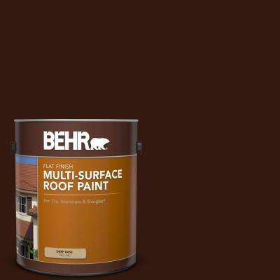 1 gal. #RP-20 Bark Brown Flat Multi-Surface Exterior Roof Paint