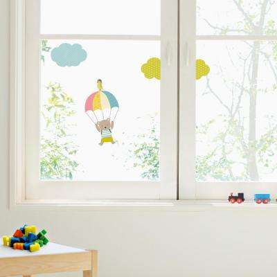 Multi-Color Bear and Parachute Wall Decals