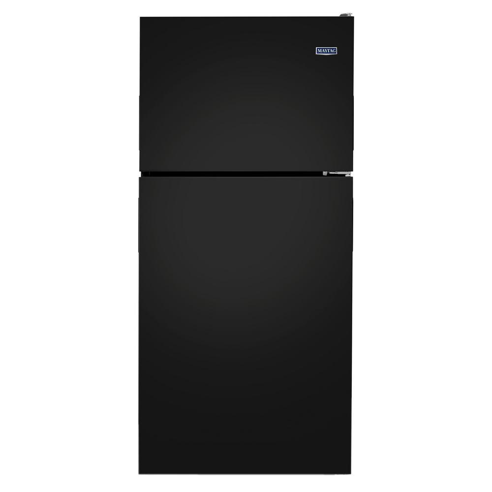30 in. W 18.2 cu. ft. Top Freezer Refrigerator in Black