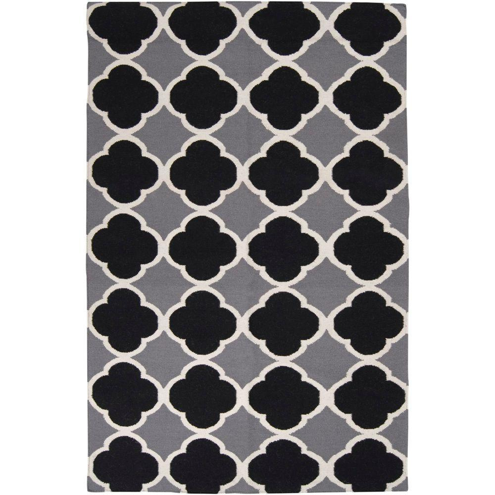 Skien Gray 8 ft. x 11 ft. Flatweave Area Rug