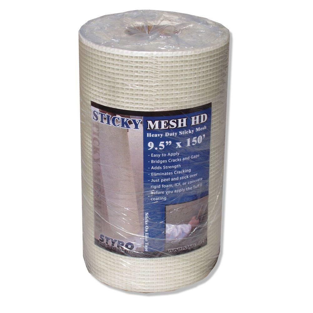 Styro Industries 9 1 2 In X 150 Ft Sticky Mesh Heavy Duty Sm9 The Home Depot
