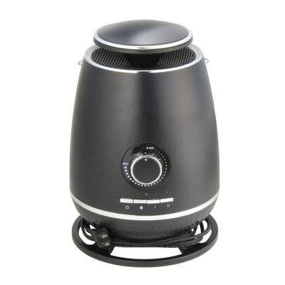 1,500-Watt 360° Electric Ceramic Space Heater with Safety Tip-over Switch in Black