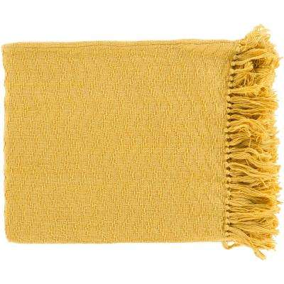 Stanley Gold Cotton Throw