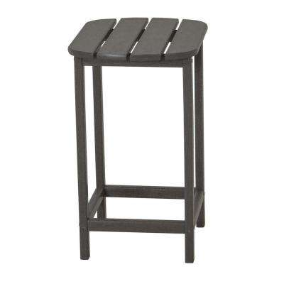 South Beach 26 in. Slate Grey Patio Counter Side Table