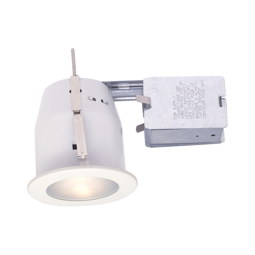 White Recessed Lighting Kit-TH-P08-02 - The Home Depot  sc 1 st  The Home Depot : home depot recessed lighting - azcodes.com