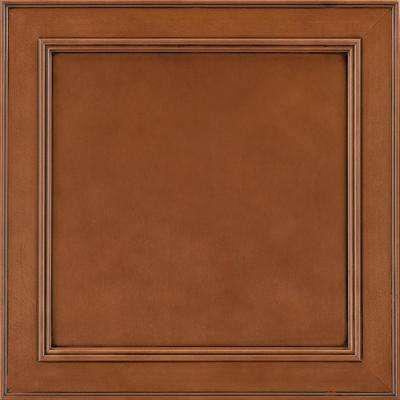 14-9/16x14-1/2 in. Cabinet Door Sample in Brookland Maple Auburn Glaze