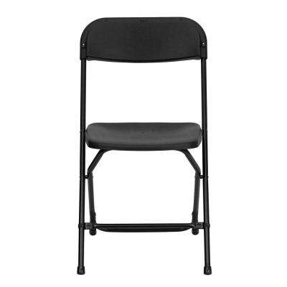 Black Metal Folding Chair (Set of 10)