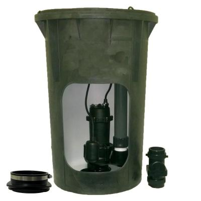 1/2 HP Submersible Pre-Plumbed Sewage Basin System