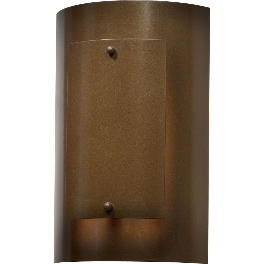 Filament Design 1-Light 12 in. Outdoor Medieval Bronze Exterior Wall Sconce