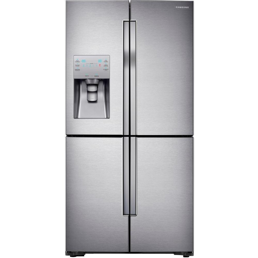 22.5 cu. ft. 4-DoorFlex French Door Refrigerator in Stainless Steel, Counter Depth