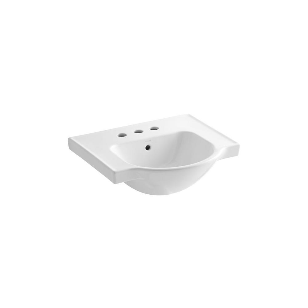 Kohler Veer 21 In Vitreous China Pedestal Sink Basin In White K