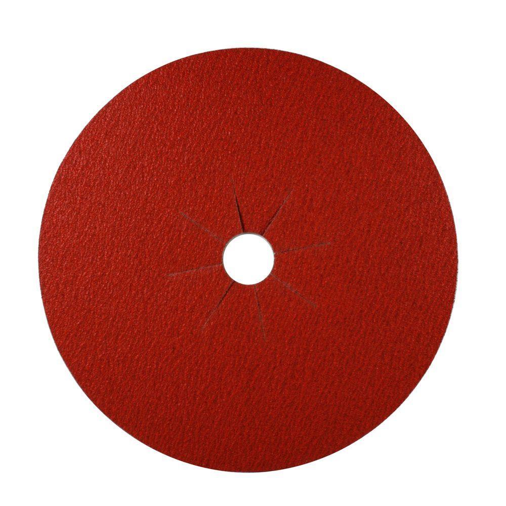 16 in. x 2 in. 12-Grit Sanding Disc (5-Pack)