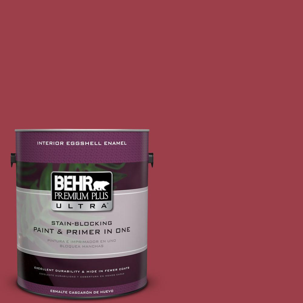 BEHR Premium Plus Ultra Home Decorators Collection 1-gal. #HDC-CL-01 Timeless Ruby Eggshell Enamel Interior Paint