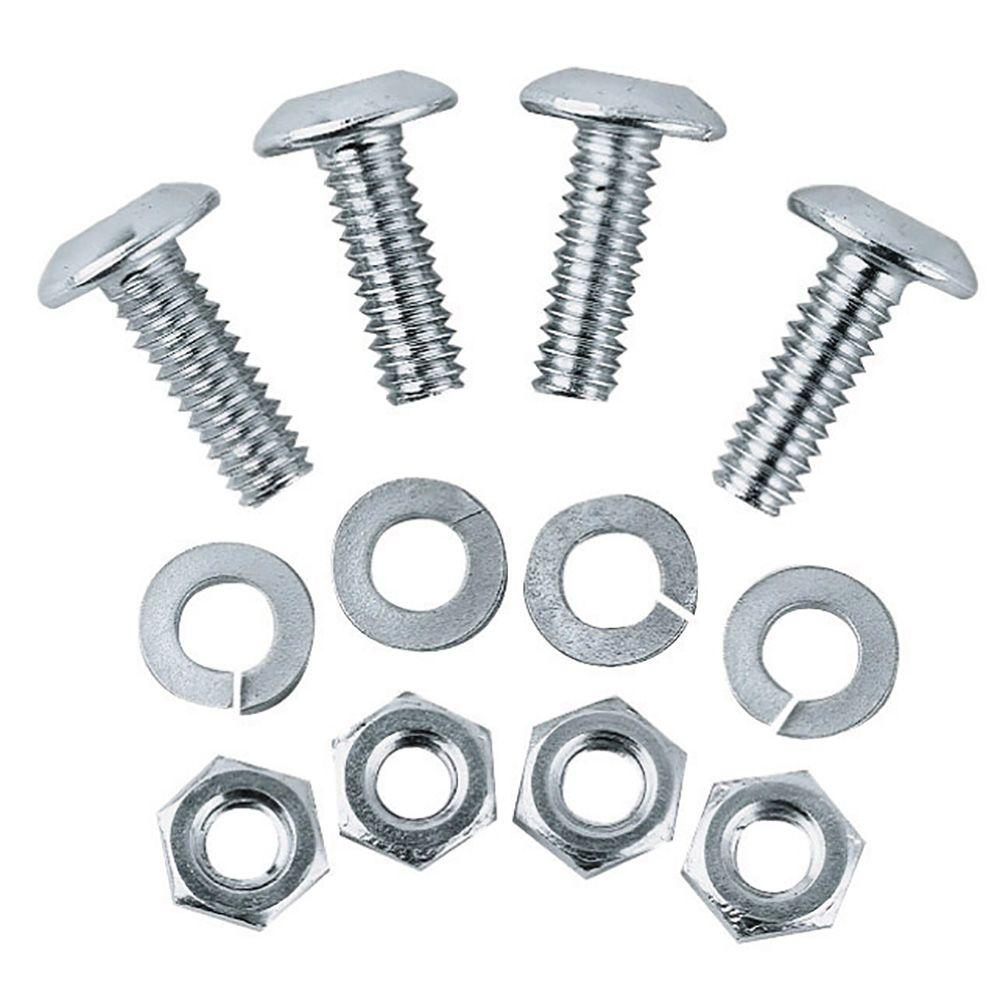 Custom Accessories Stainless Steel License Plate Fastener 4 Pack