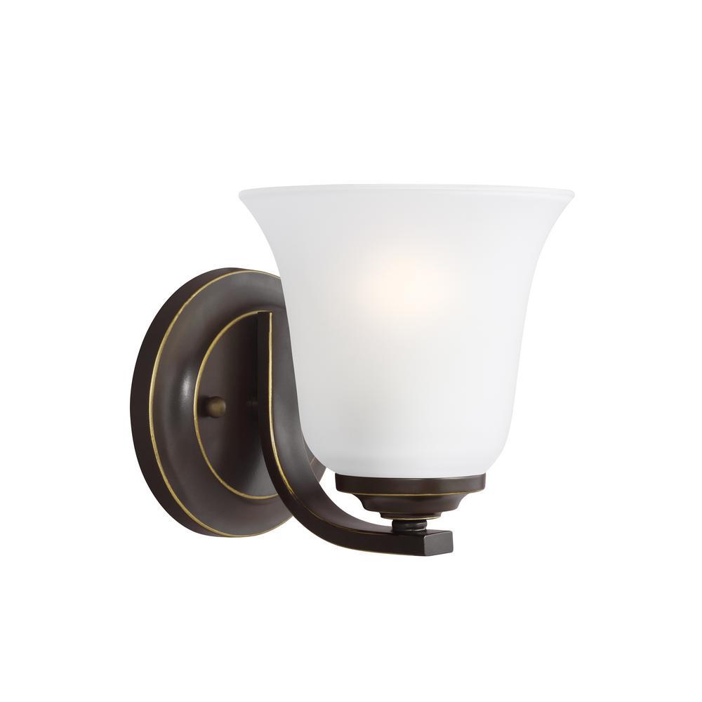 Sea Gull Lighting Emmons 1-Light Heirloom Bronze Sconce