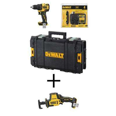 ATOMIC 20-Volt MAX Brushless Cordless 1/2 in. Drill/Driver Kit w/ Toolbox w/ Bonus Bare ATOMIC Compact Reciprocating Saw