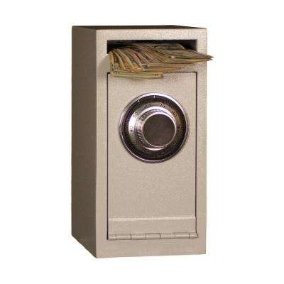 0.22 cu. ft. Steel Deposit Safe Combination/Dial Lock, White