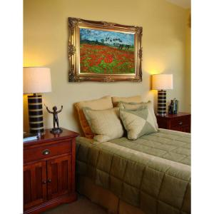30 inch x 40 inch Field of Poppies Hand Painted Classic Artwork by