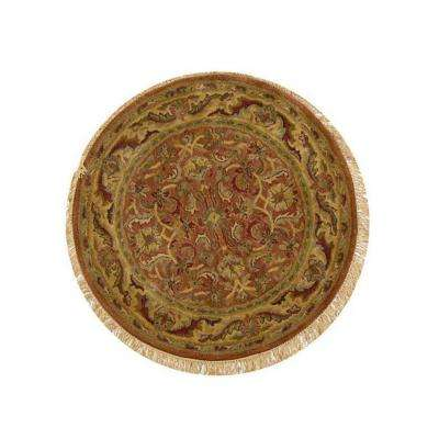 Chantilly Brick 7 ft. 9 in. Round Area Rug