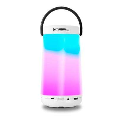 LED Light Party Show Indoor/Outdoor Bluetooth Speaker in White