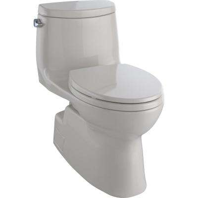 Carlyle II 1-Piece 1.28 GPF Single Flush Elongated Skirted Toilet with CeFiONtect in Sedona Beige