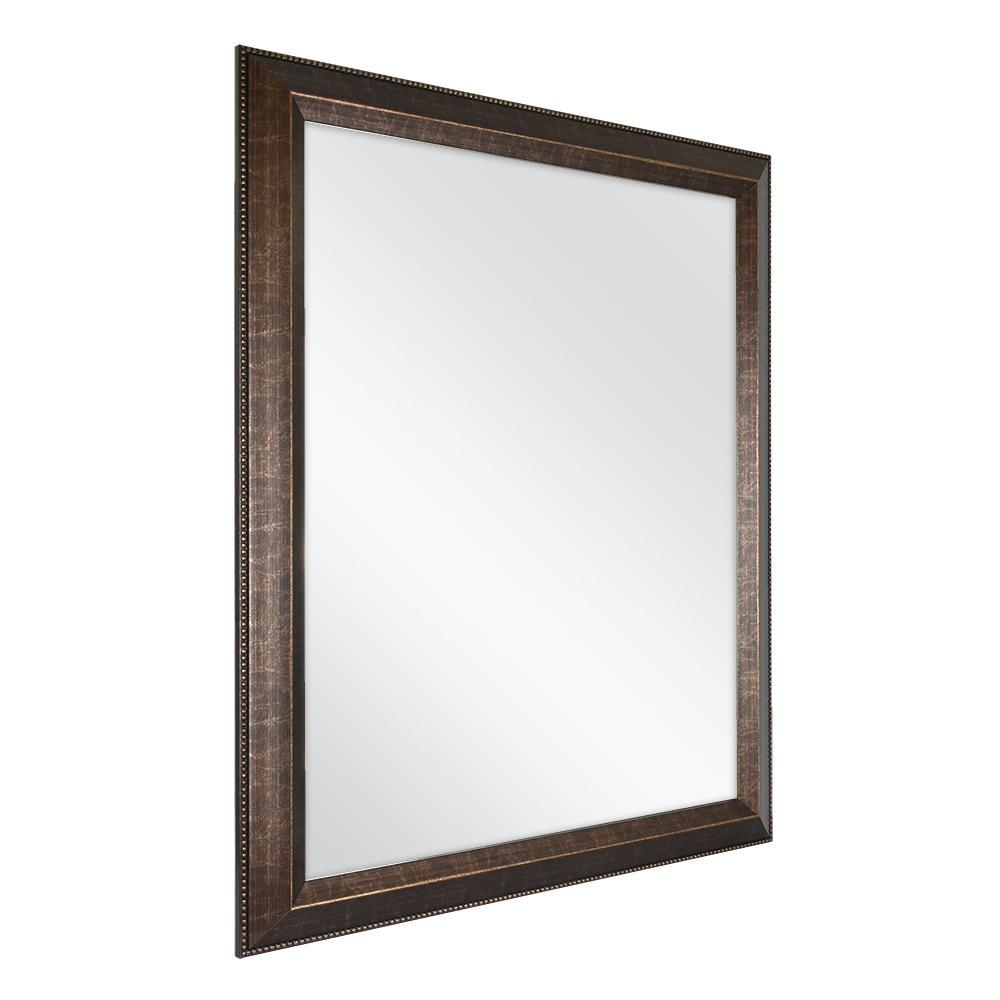 26 in. W x 32 in. L Framed Fog Free Wall Mirror in Antique Bronze