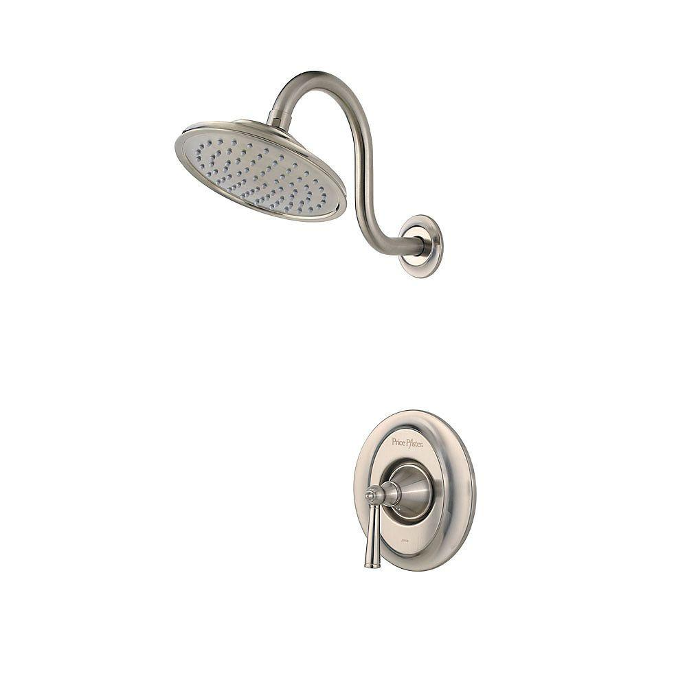 Pfister Saxton Single-Handle Shower Faucet Trim Kit in Brushed Nickel (Valve Not Included)