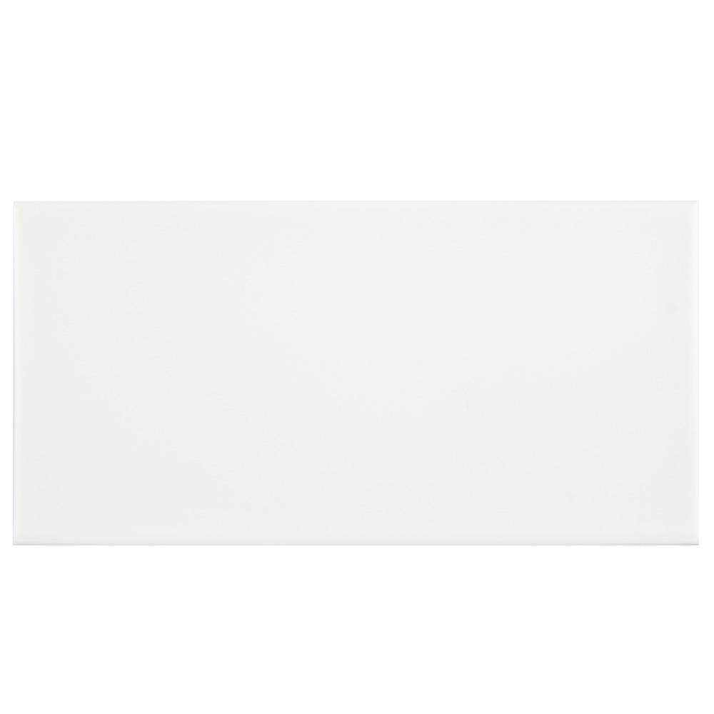 Merola Tile Projectos 7-3/4 in. x 3-7/8 in. Neve Matte Ceramic Subway Floor and Wall Subway Tile (11.46 sq. ft. / case)