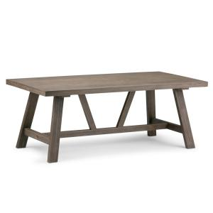 Dylan Solid Wood 48 in. Wide Modern Industrial Modern Industrial Coffee Table in Driftwood