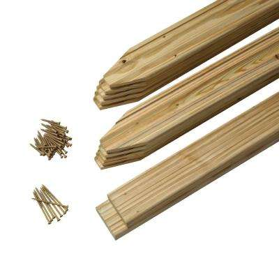 3-1/2 ft. x 6 ft. Moulded Pine Spaced Picket Fence Panel Kit