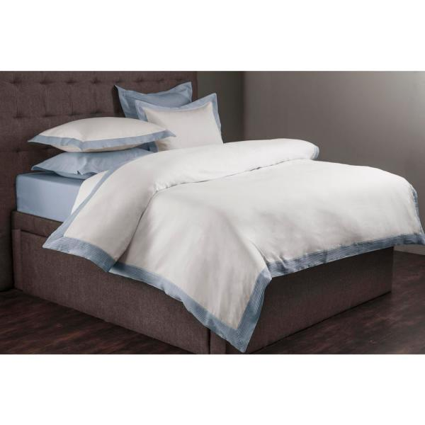 Textrade International Limited Morgan White and Blue Queen Duvet Set DS_00099