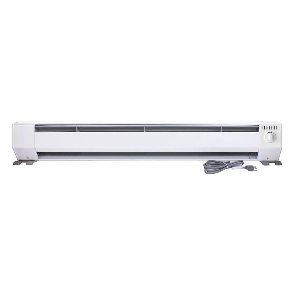 Amazing 1000 Watt 120 Volt Portable Baseboard Heater In Bright White KP1210   The  Home Depot