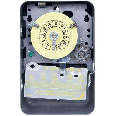 T170 Series 40 Amp 24-Hour Mechanical Time Switch with Skipper and Indoor Enclosure - Gray