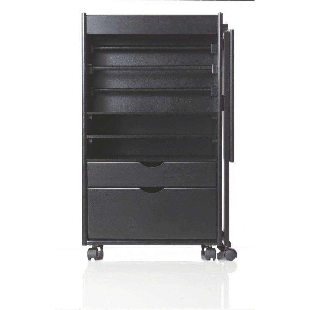 Stanton 20 in. W Deluxe Wrapping Storage Cart in Black