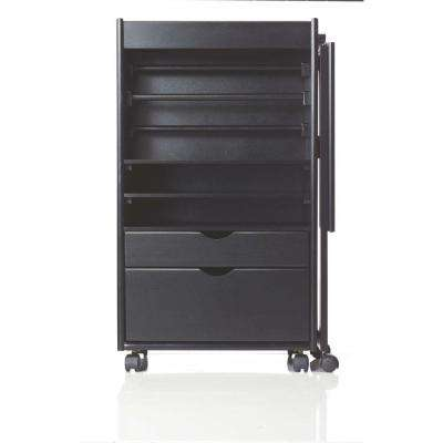 W Deluxe Wring Storage Cart In Black