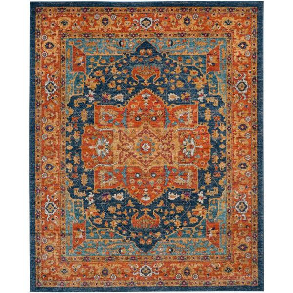 Safavieh Evoke Blue Orange 8 Ft X 10