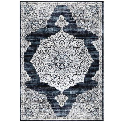 Bazaar Royal Navy 7 ft. 10 in. x 10 ft. 2 in. Indoor Area Rug