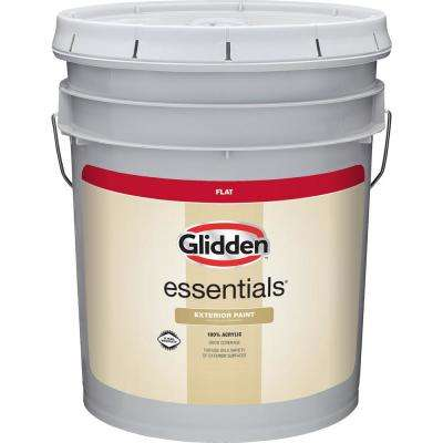 5 gal. White/Base 1 Flat Exterior Paint