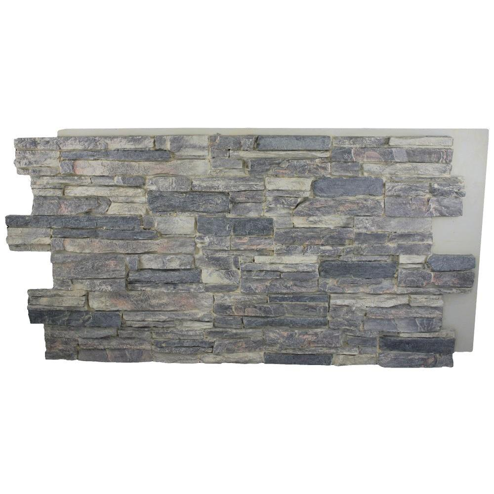 Superior Building Supplies Cliff Grey 24 in. x 48 in. x 1