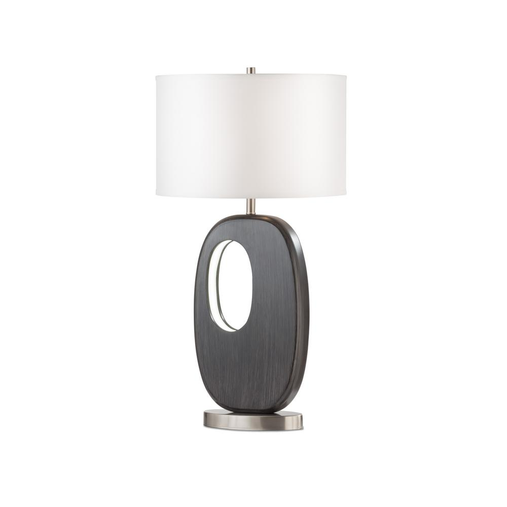NOVA of California Offset 30 in. Charcoal Gray Standing Table Lamp