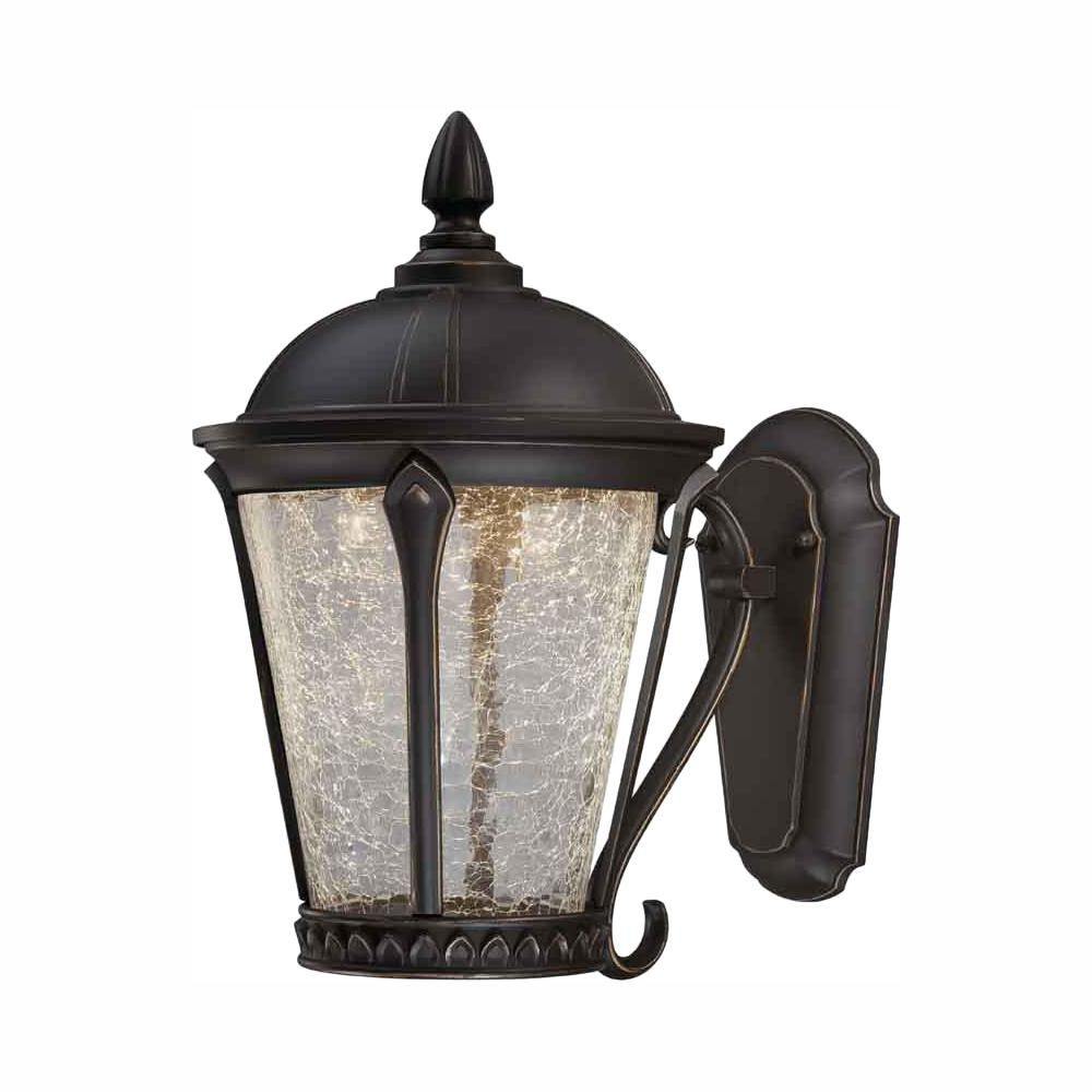 Home Decorators Collection Cottrell Aged Bronze Patina Outdoor Led Ed Wall Lantern Sconce