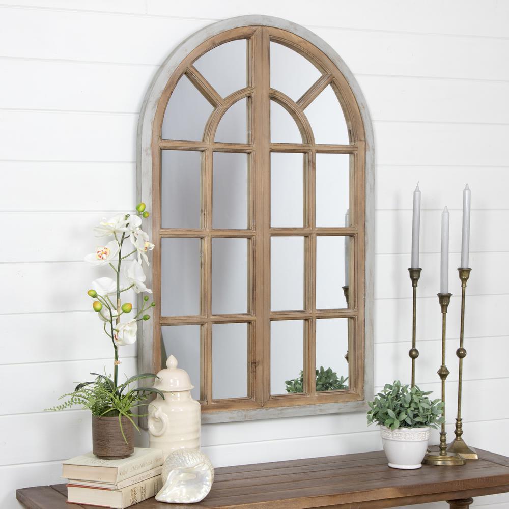 Arches Design Wall: Aspire Home Accents Athena Farmhouse Arch Wall Mirror-5612