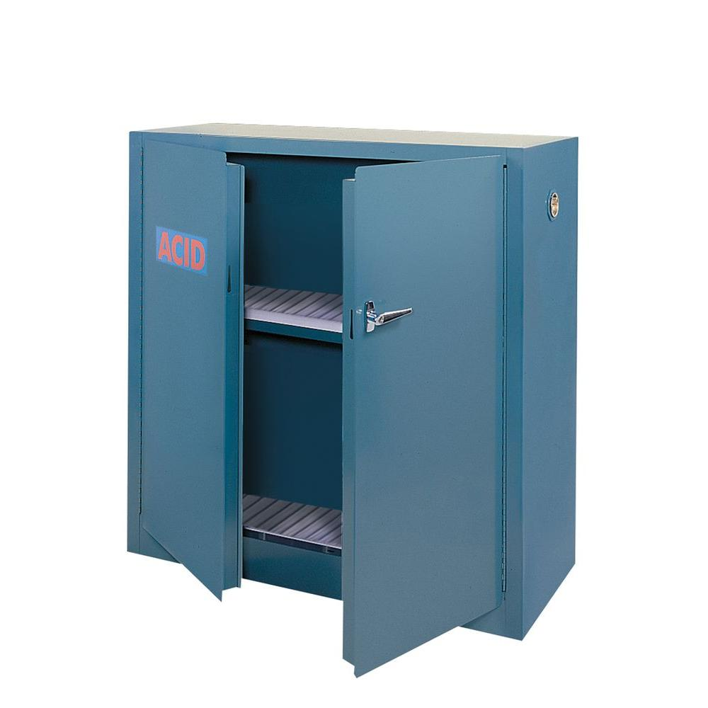Edsal 44 in. H x 43 in. W x 18 in. D Freestanding Steel Acid Safety Cabinet in Blue