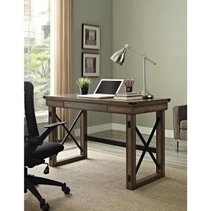 Altra Furniture Wildwood Rustic Gray Desk with Storage by Altra Furniture
