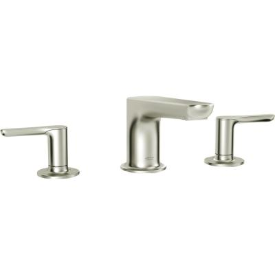 Studio S 2-Handle Deck-Mount Roman Tub Faucet for Flash Rough-in Valves in Brushed Nickel